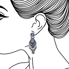 Ayala Bar Blue Planet Ice Earrings - New Arrival