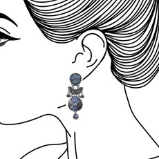 Ayala Bar Blue Planet Eggplant Earrings - New Arrival