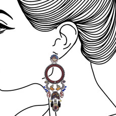 Ayala Bar Sunset Bliss Pinot Noir Earrings - New Arrival