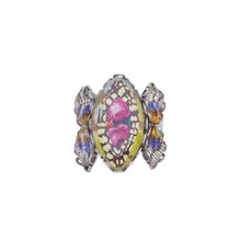 Ayala Bar Unforgettable Fire Secret Azalea Adjustable Ring - New Arrival