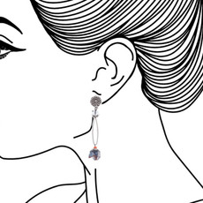Ayala Bar Celestial Aura Delicious Blueberry Earrings - New Arrival