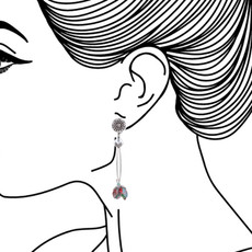 Ayala Bar Celestial Aura Ruby Rose Earrings - New Arrival