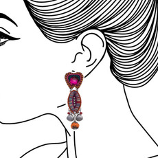 Ayala Bar Crimson Voyage Julias Jewel Earrings - New Arrival