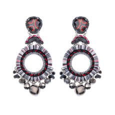 Ayala Bar Nightime Stories Red and Black Earrings - New Arrival