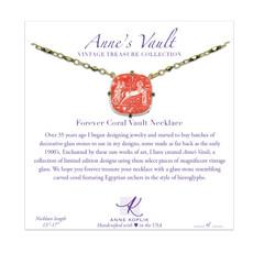 Anne Koplik Forever Coral Vault Necklace