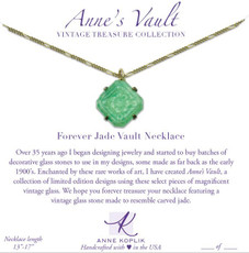 Anne Koplik Forever Jade Vault Necklace