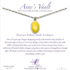 Anne Koplik Forever Yellow Vault Necklace