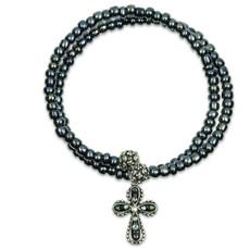 Anne Koplik Faith Cross Wrap Bracelet