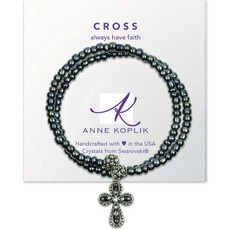 Anne Koplik Faith Cross Wrap Bracelet