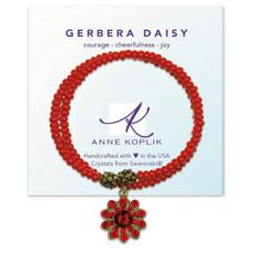 Anne Koplik Gerbera Daisy Joy Wrap Bracelet