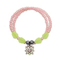 Anne Koplik Lotus Flower Wrap Bracelet