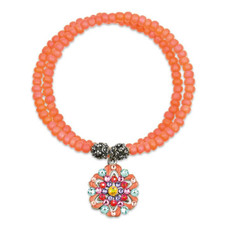 Anne Koplik Orange Joy Wrap Bracelet