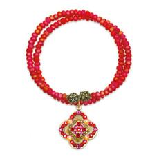 Anne Koplik Red Adventure Wrap Bracelet