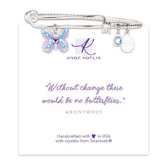 Anne Koplik Butterfly Change Charm Bangle
