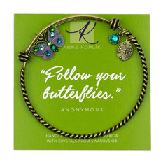 Anne Koplik Butterfly Energy Charm Bangle