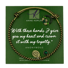 Anne Koplik Claddagh Loyalty Charm Bangle