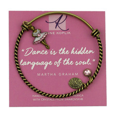 Anne Koplik Dancer Soul Charm Bangle