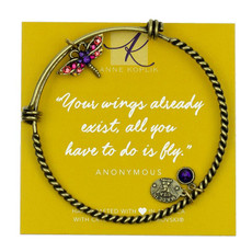 Anne Koplik Dragonfly Power Charm Bangle