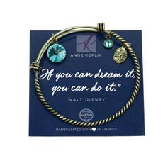 Anne Koplik Dream Crystal Charm Bangle