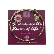 Anne Koplik Flower Friendship Charm Bangle