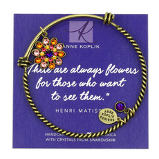 Anne Koplik Flower Gratitude Charm Bangle