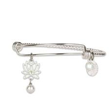 Anne Koplik Lotus Flower Light Charm Bangle