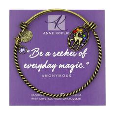 Anne Koplik Unicorn Magic Charm Bangle