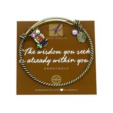 Anne Koplik Wisdom Owl Charm Bangle