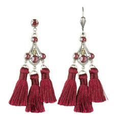 Anne Koplik Adrienne Triple Tassel Earrings