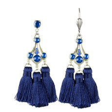 Anne Koplik Annette Triple Tassel Earrings