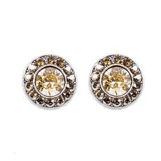 Anne Koplik Bronze Golden Shadow Stud Earrings