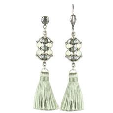 Anne Koplik Brooke Single Tassel Earrings