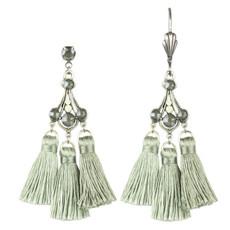 Anne Koplik Brooke Triple Tassel Earrings