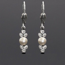 Anne Koplik Classic Pearl and Crystal Earrings