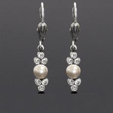 Anne Koplik Classic Pearl and Crystal Earrings