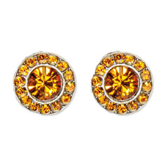 Anne Koplik Copper Topaz Stud Earrings