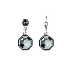 Anne Koplik Dark Silver Knight Earrings