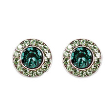 Anne Koplik Emerald Erinite Stud Earrings