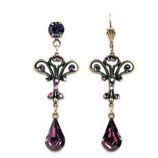 Anne Koplik Fall in Love Amethyst Crystal Earrings