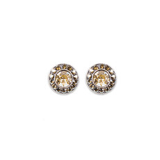 Anne Koplik Golden Shadow Stud Earrings