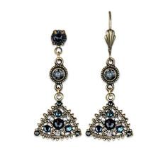 Anne Koplik Graphite Sparkling Earrings
