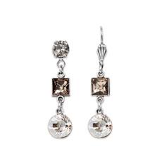 Anne Koplik Greige and Silver Shadow Earrings