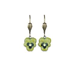 Anne Koplik Kappa Alpha Theta Little Pansy Earrings