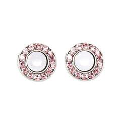Anne Koplik Light Rose Stud Earrings