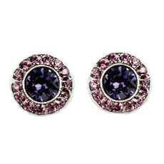 Anne Koplik Purple Amethyst Stud Earrings