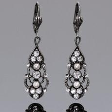 Anne Koplik Rosaleen Crystal & Pearl Earrings