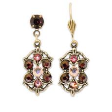 Anne Koplik Rowan Burgundy Earrings