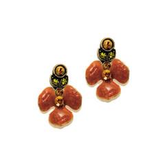 Anne Koplik Royal Pansy Garden Earrings