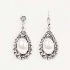 Anne Koplik Shimmering Moon Teardrop Earrings