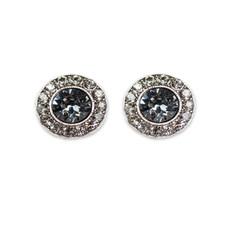 Anne Koplik Silver Night Black Diamond Stud Earrings